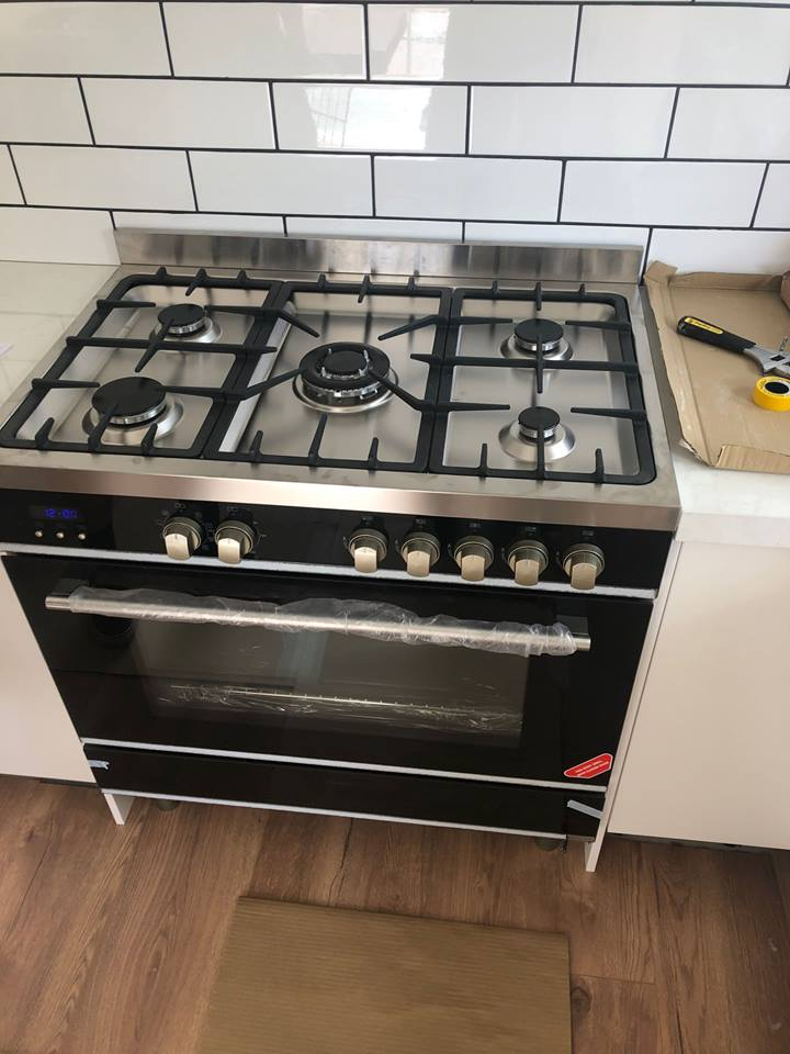 kitchen gas cooker upgrade